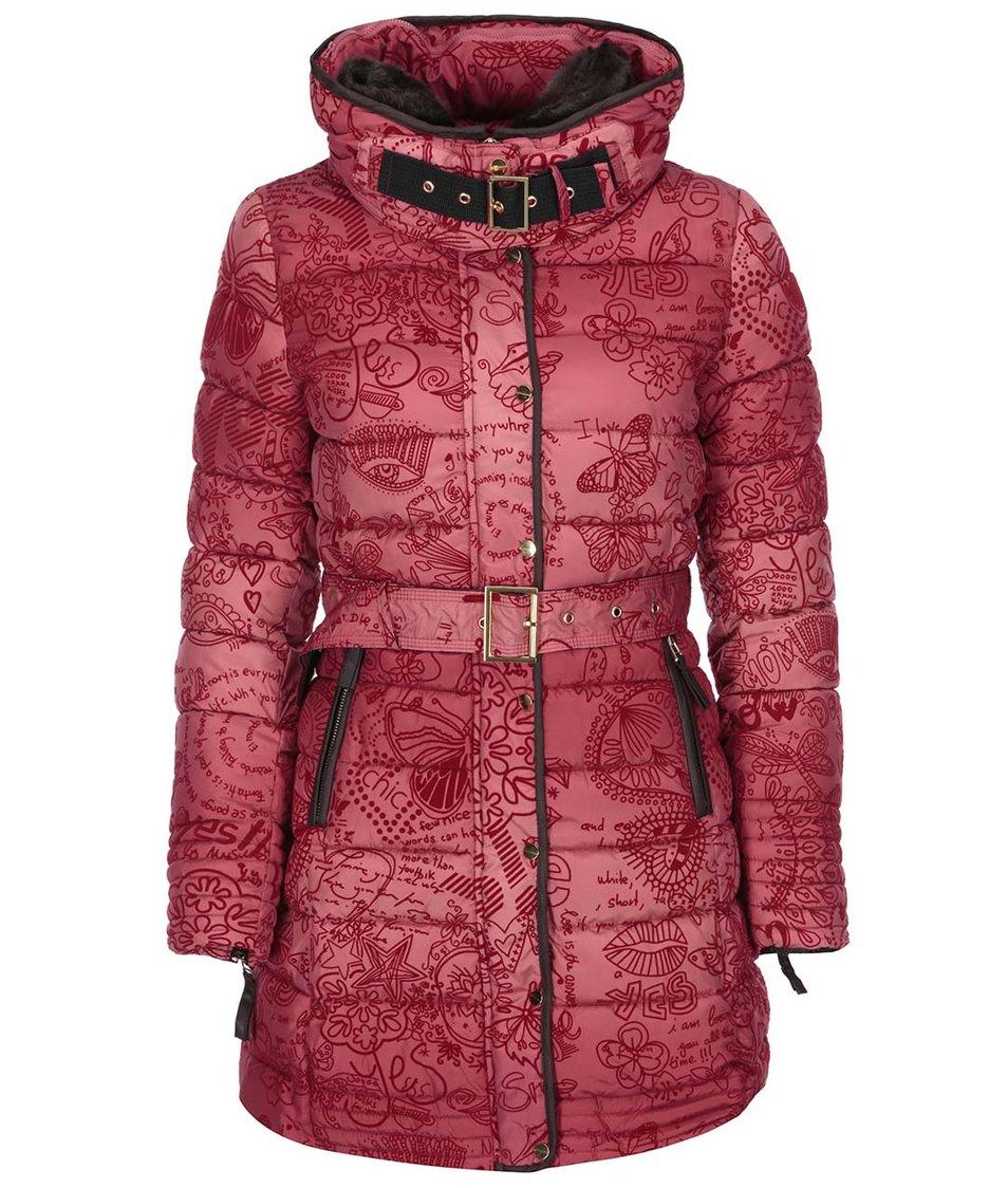 Červený kabát Desigual Alethea