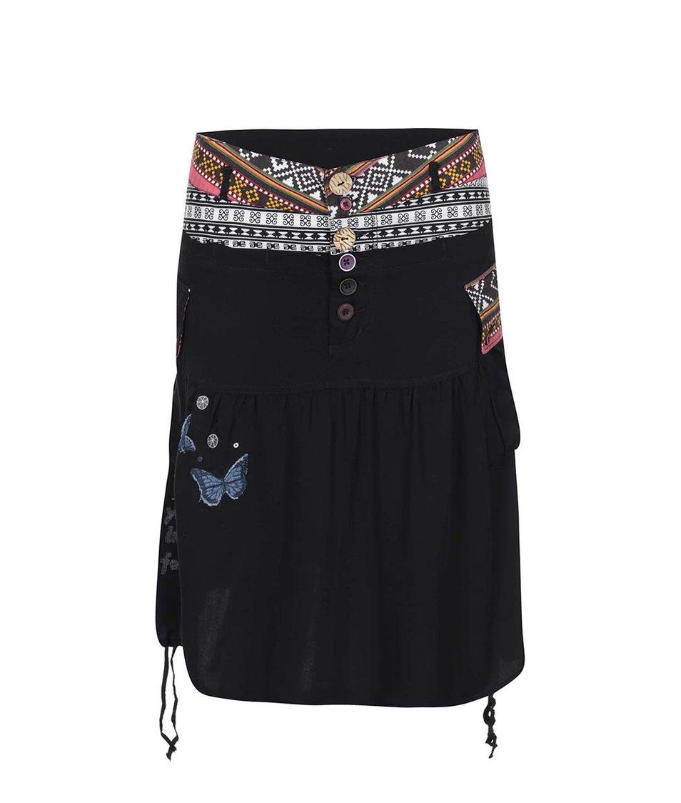 Černá sukně se vzorem Desigual Gloria
