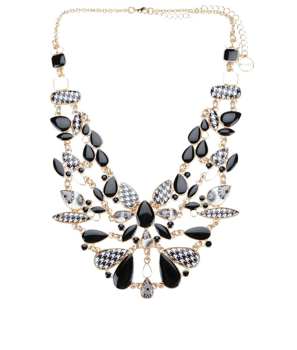 Černý náhrdelník Desigual Geo Fresh