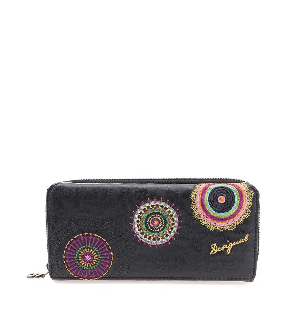 Hnědá velká peněženka s barevnými vzory Desigual Maria