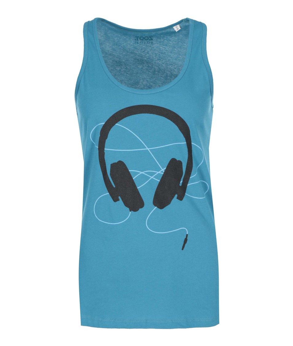 Modré dámské tílko ZOOT Originál Headphones