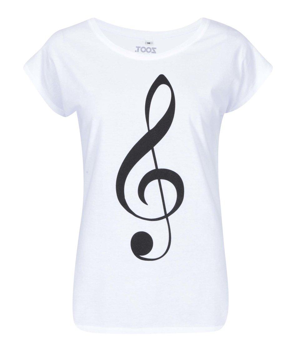 Bílé dámské tričko ZOOT Originál Houslový klíč
