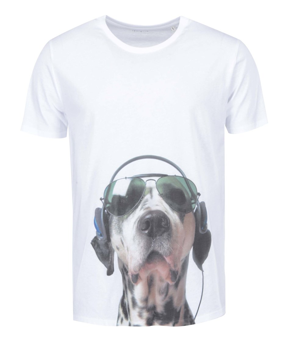 Bílé pánské triko ZOOT Originál Pes DJ