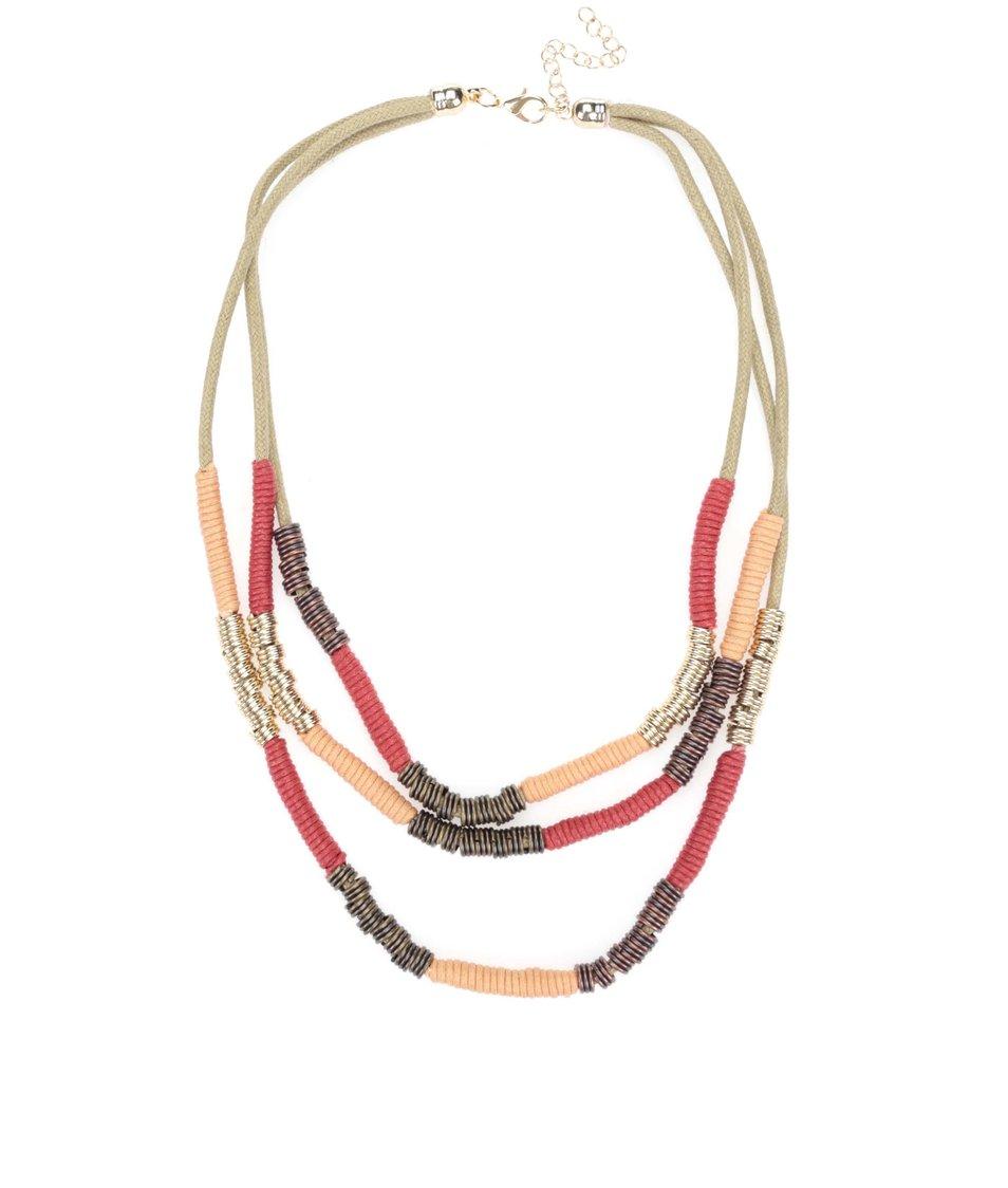 Korálový trojřadý náhrdelník Madonna India