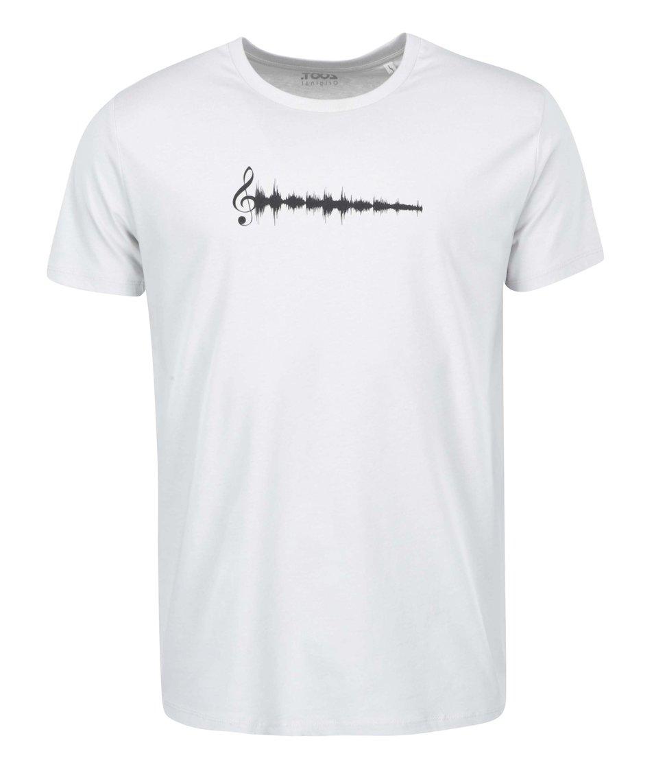 Světle šedé pánské triko ZOOT Originál Hudba