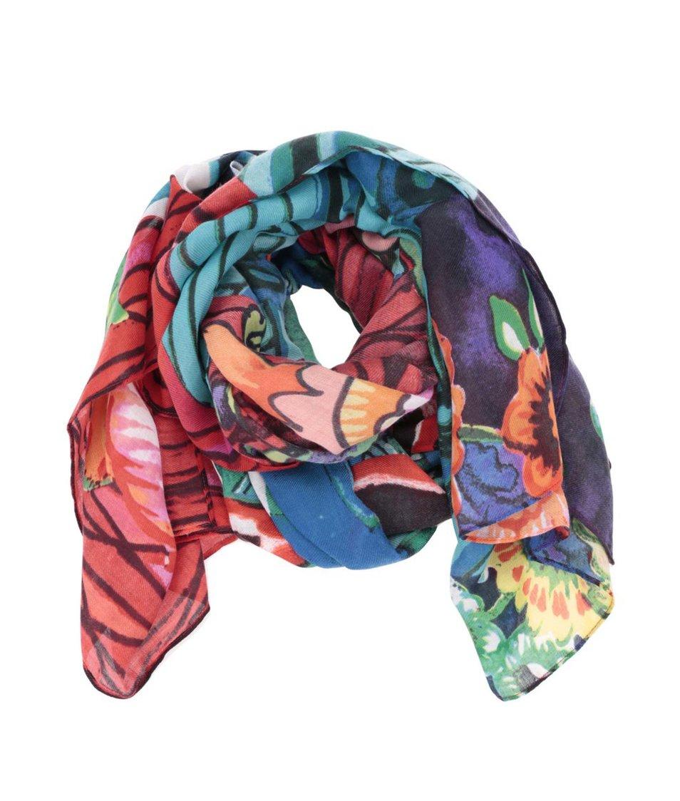 Barevný šátek se vzory Desigual Balangan