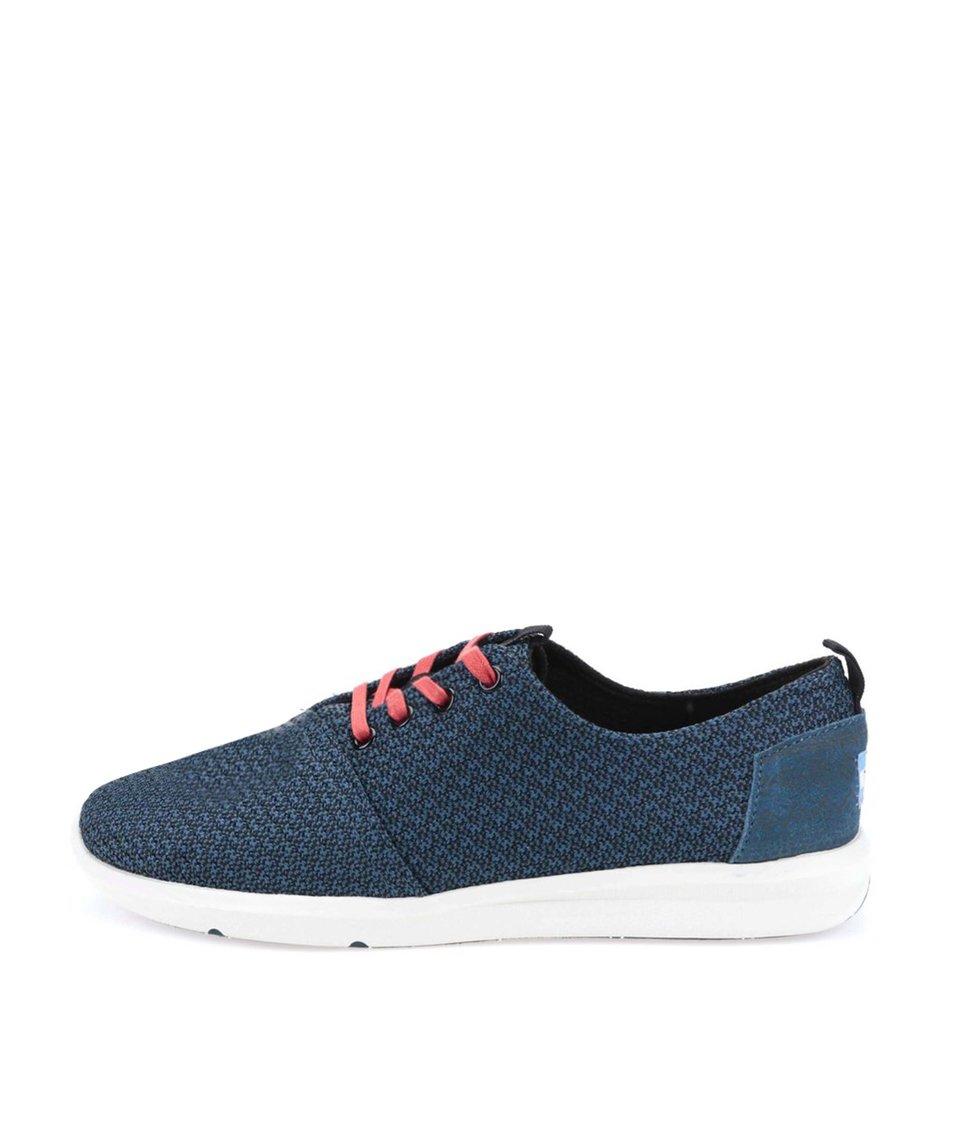 Černo-modré vzorované pánské tenisky Toms Viaje Sneaker