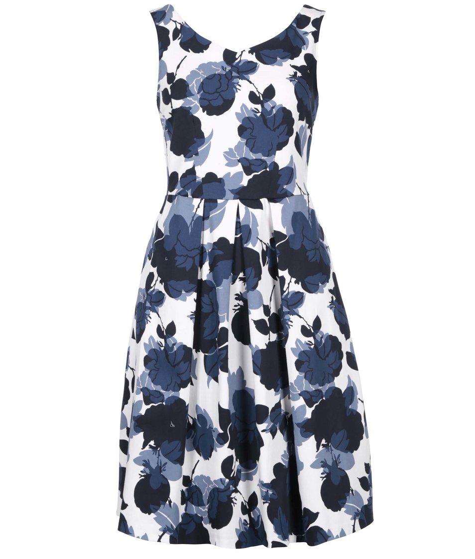 Modro-bílé šaty s květy Closet