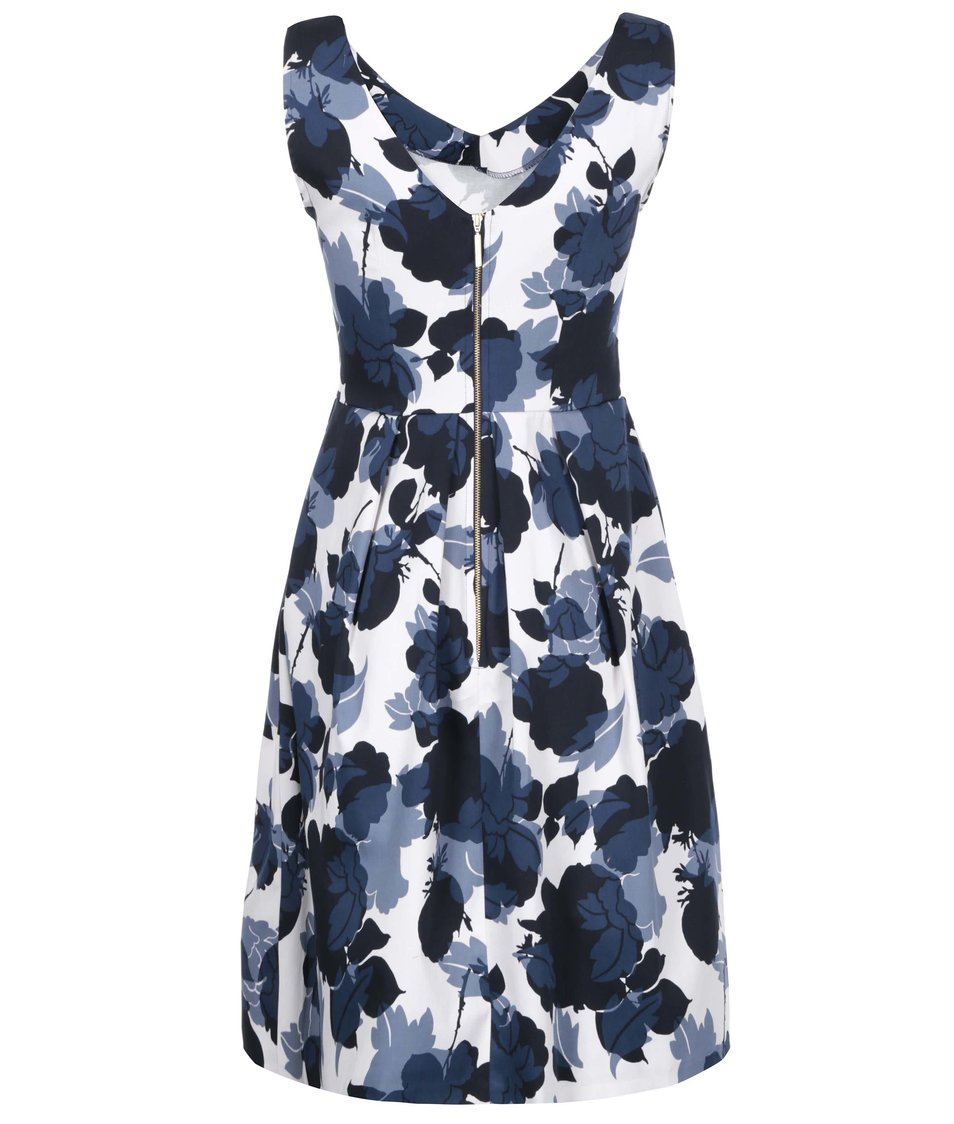 b6856340d101 Modro-bílé šaty s květy Closet - Vánoční HIT!