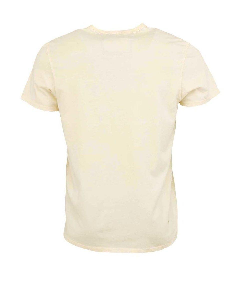 Krémové pánské tričko s kapsou Ben Sherman