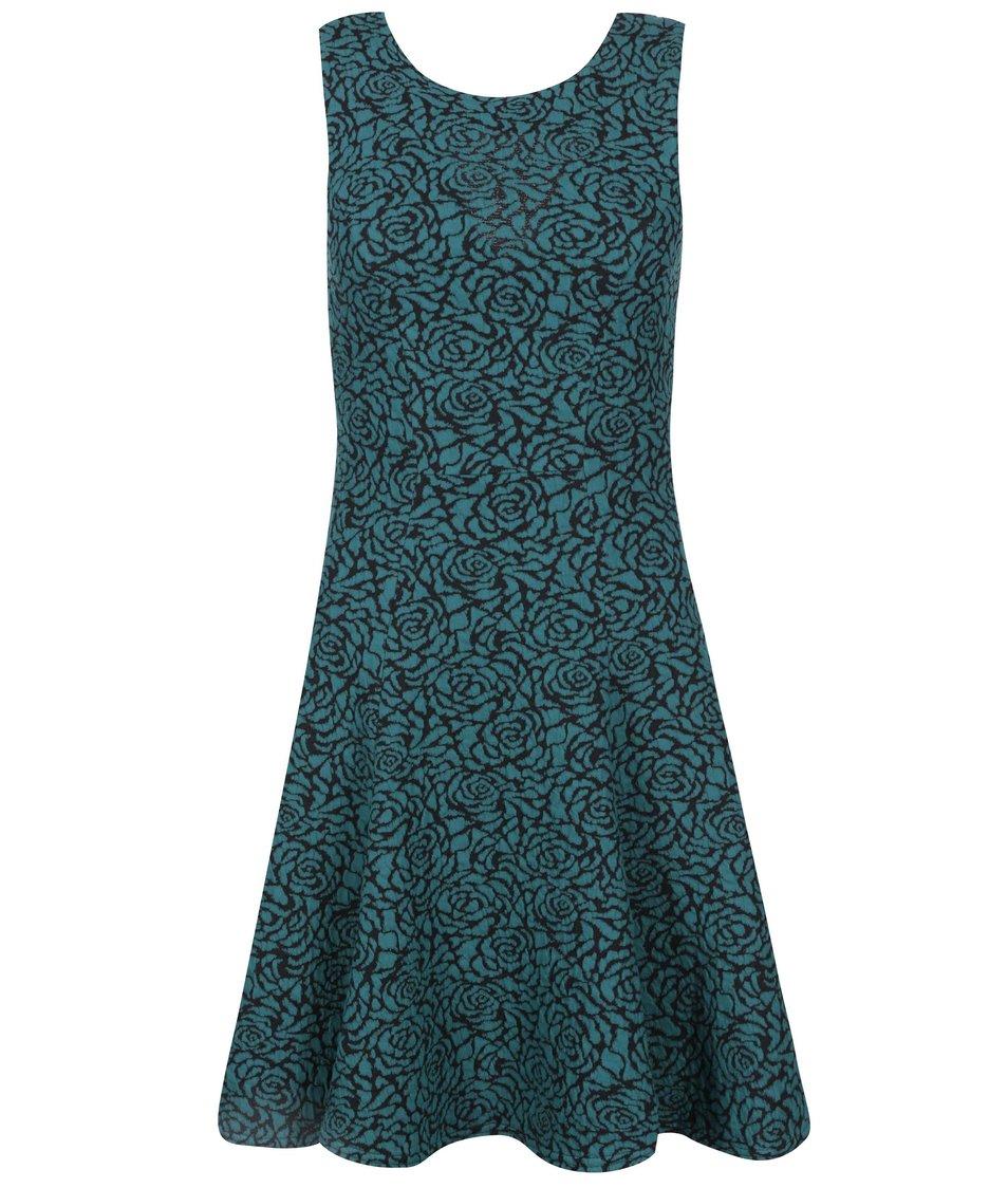 Zelené šaty s žakárovým vzorem Closet