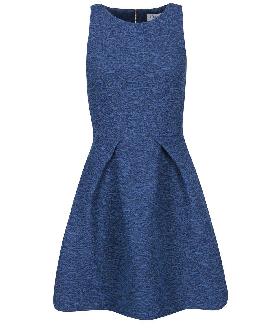 Modré šaty s žakárovým vzorem Closet