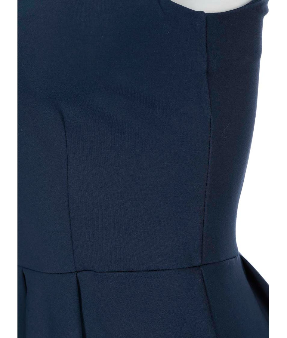 670a47273f8f Tmavě modré šaty se skládanou sukní Closet - Vánoční HIT!