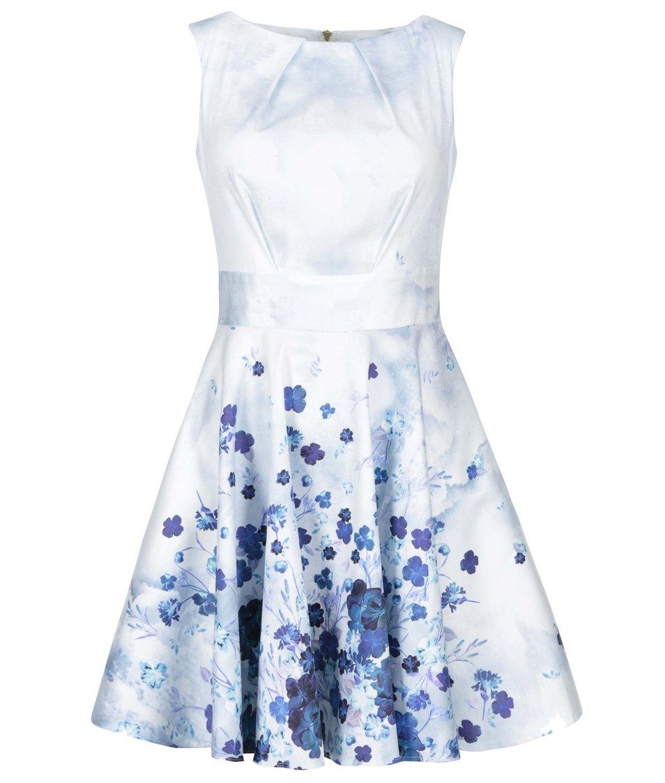 Světle modré šaty s květy Closet