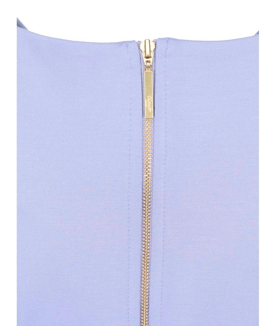 e1cf8e4fc71d Světle modré šaty s áčkovou sukní Closet - Vánoční HIT!