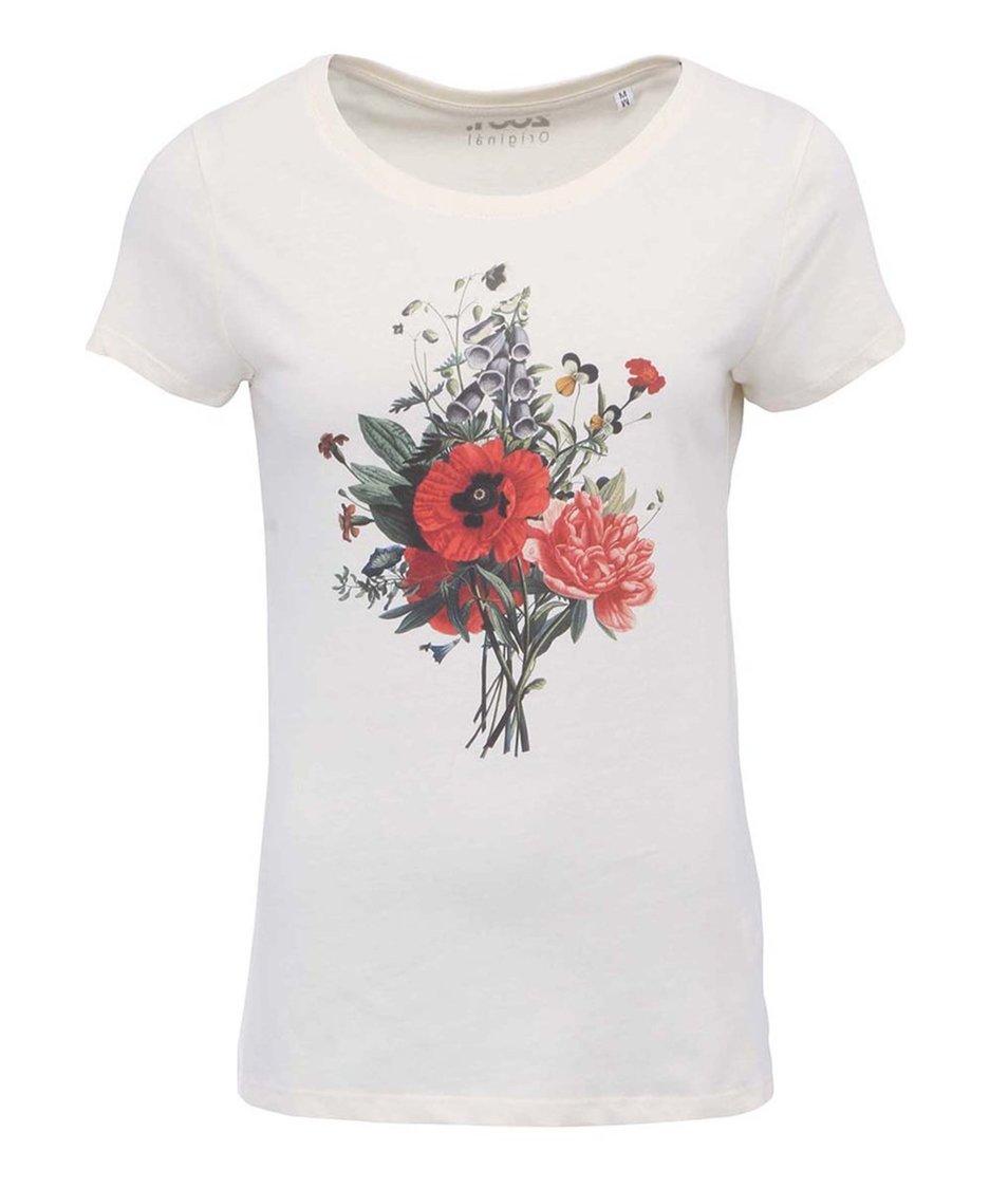 Krémové dámské triko ZOOT Originál Květinová vazba