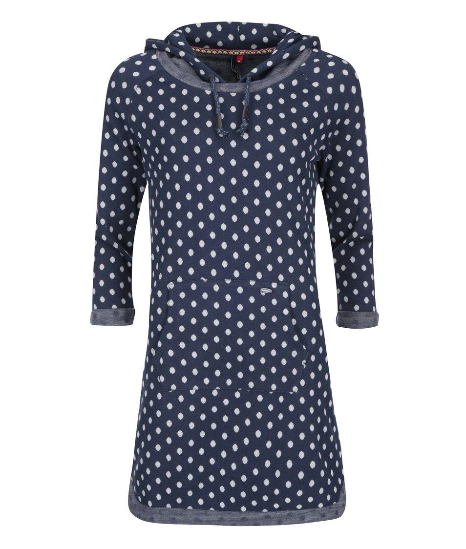 Tmavě modré mikinové šaty s puntíky Ragwear Bess