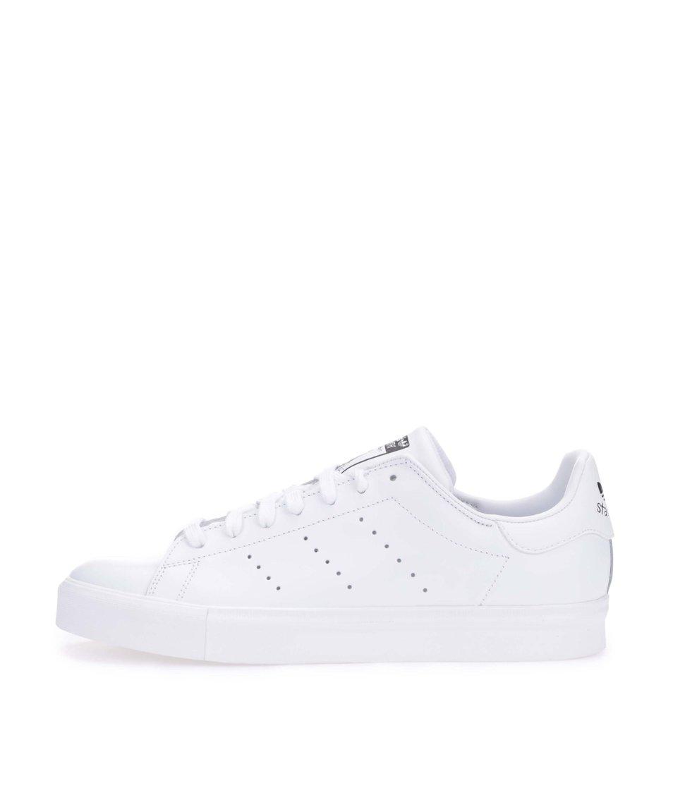 Bílé pánské kožené tenisky adidas Originals Stan Smith Vulc