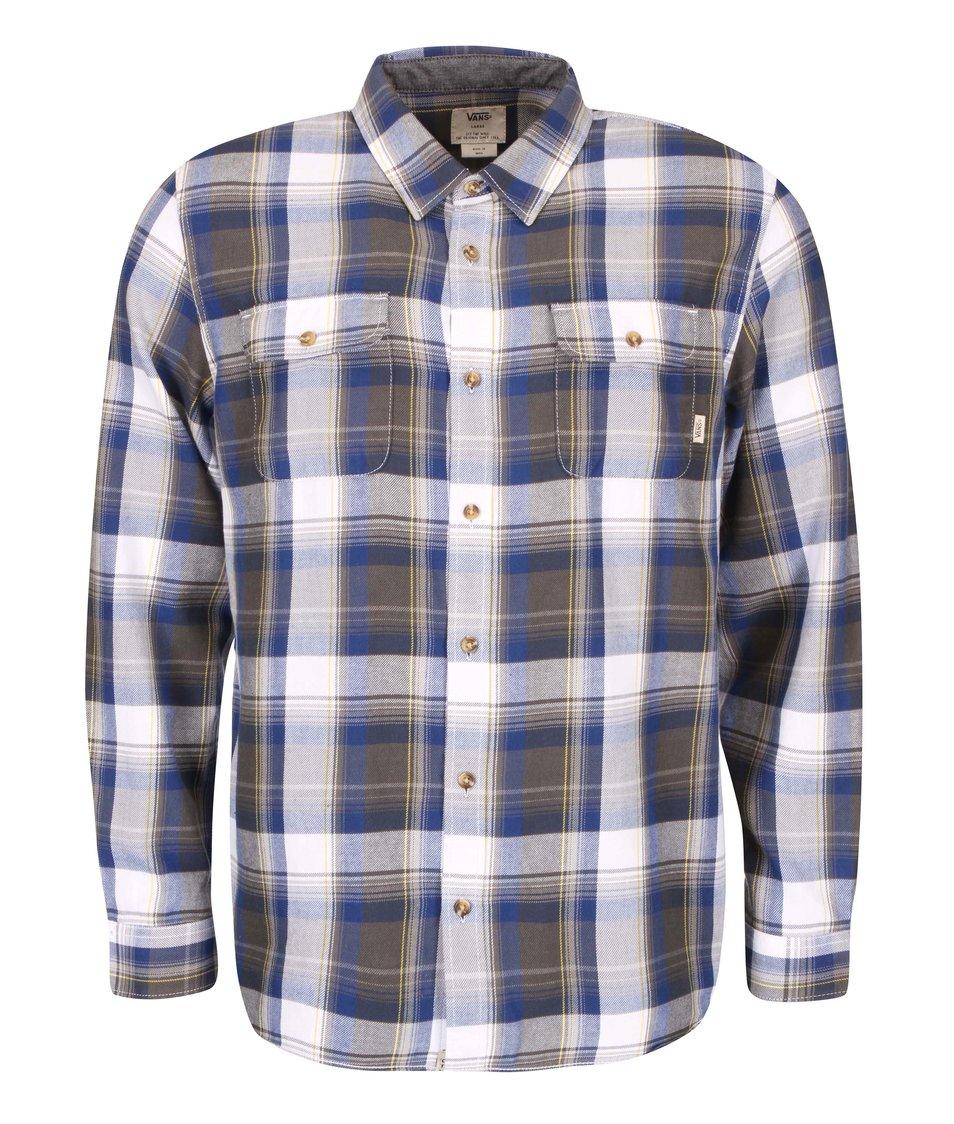 Šedo-modrá pánská kostkovaná košile Vans Exblusive