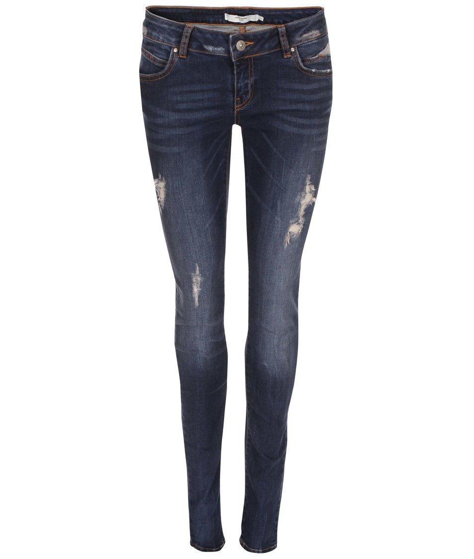 Tmavě modré skinny džíny Vero Moda Five