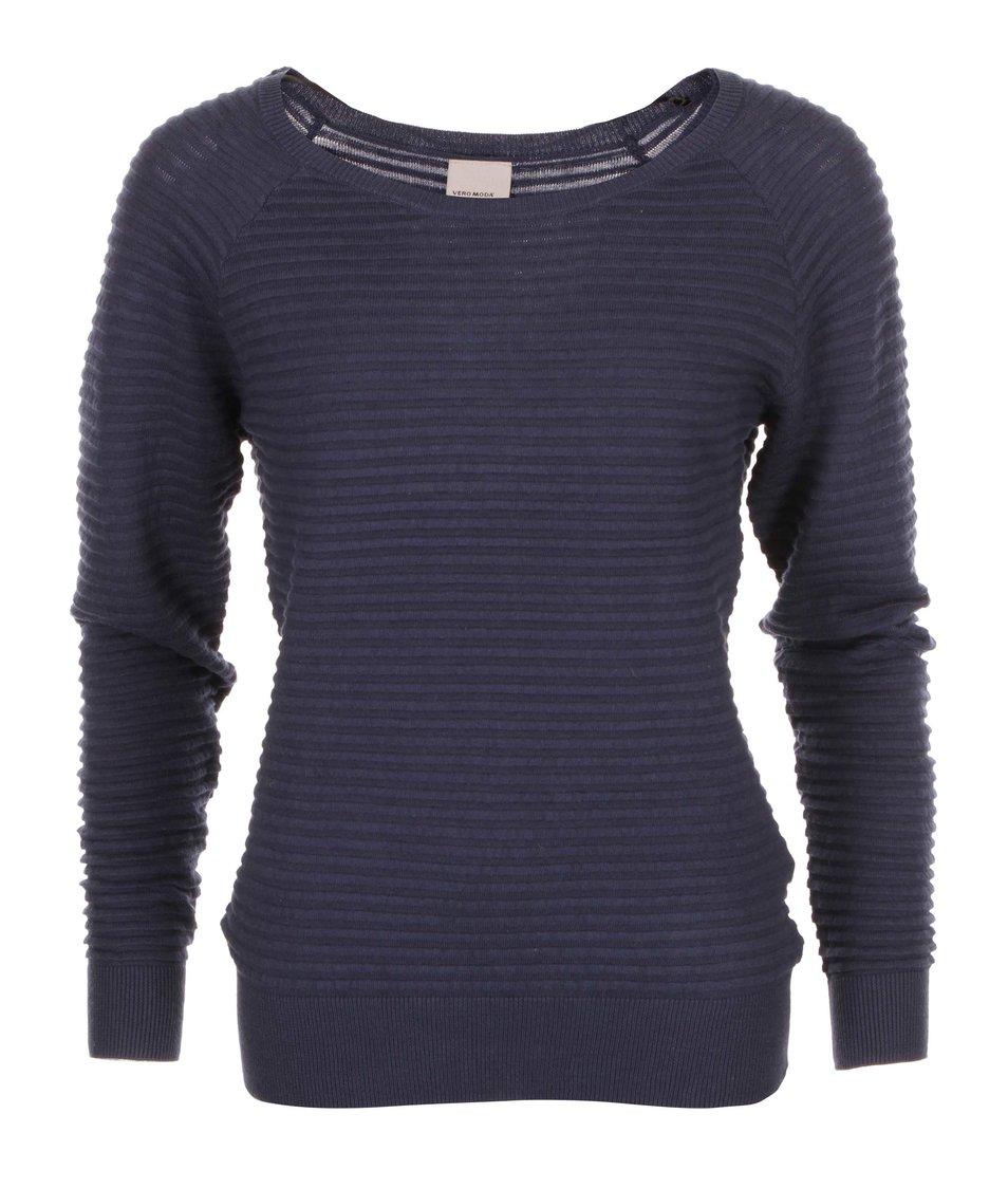 Tmavě modrý svetr s knoflíky na zádech Vero Moda Forever