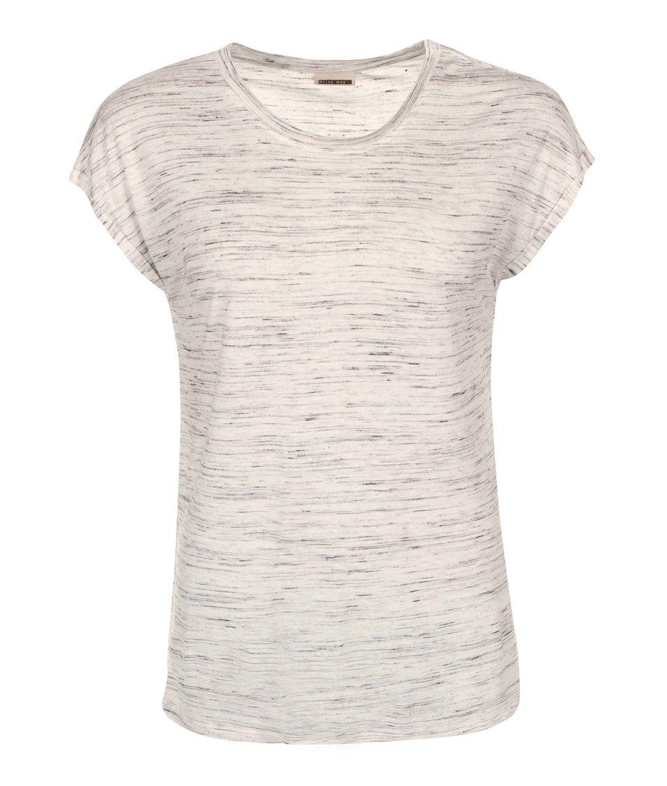 Světle šedé žíhané tričko Noisy May Jimmy