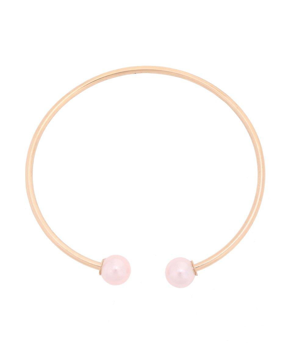 Náhrdelník s perlami v růžové barvě Vero Moda Wally