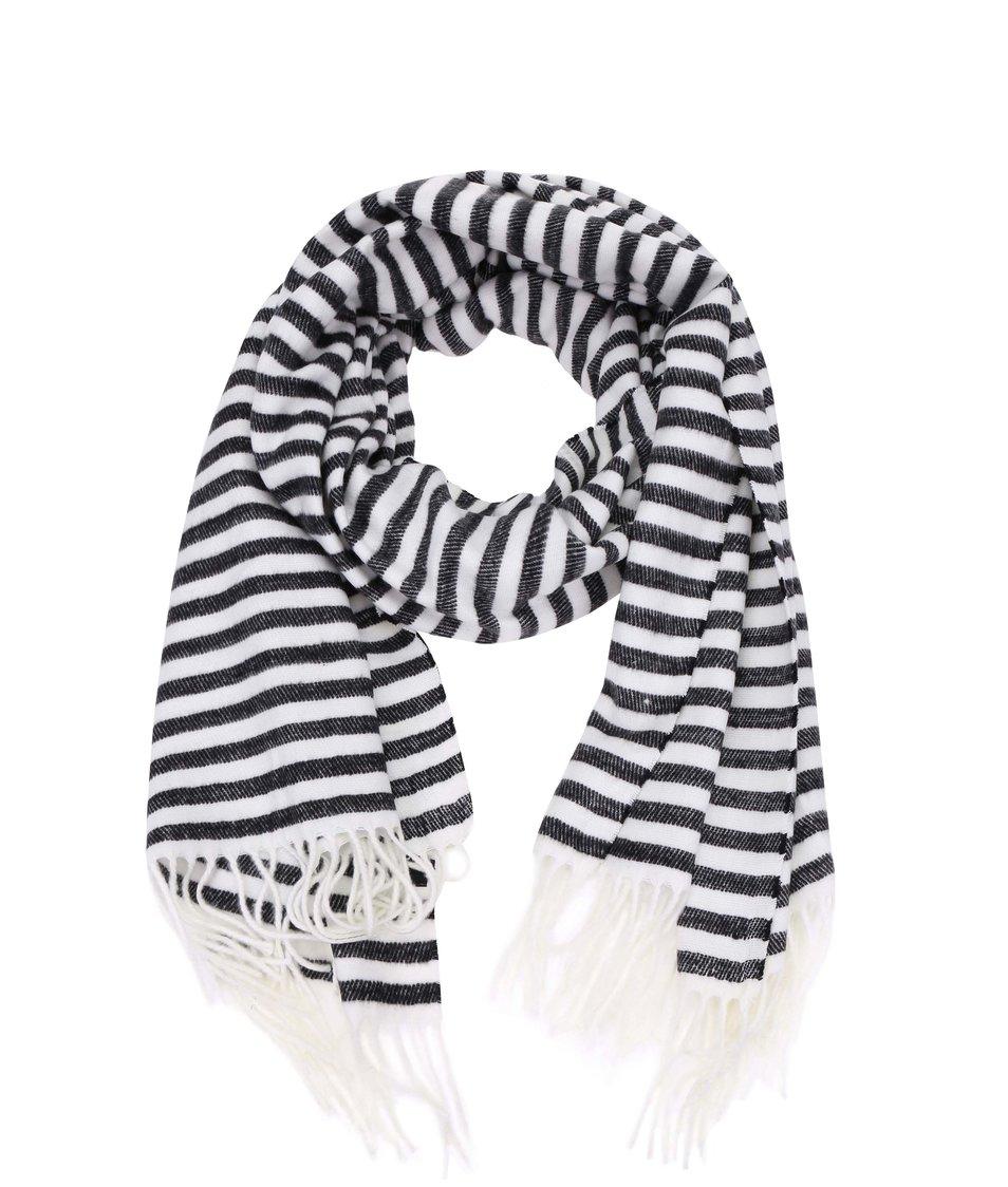 Černo-bílá šála Vero Moda Bittie