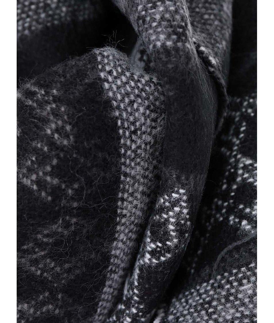 Černo-šedá šála Vero Moda Rilla
