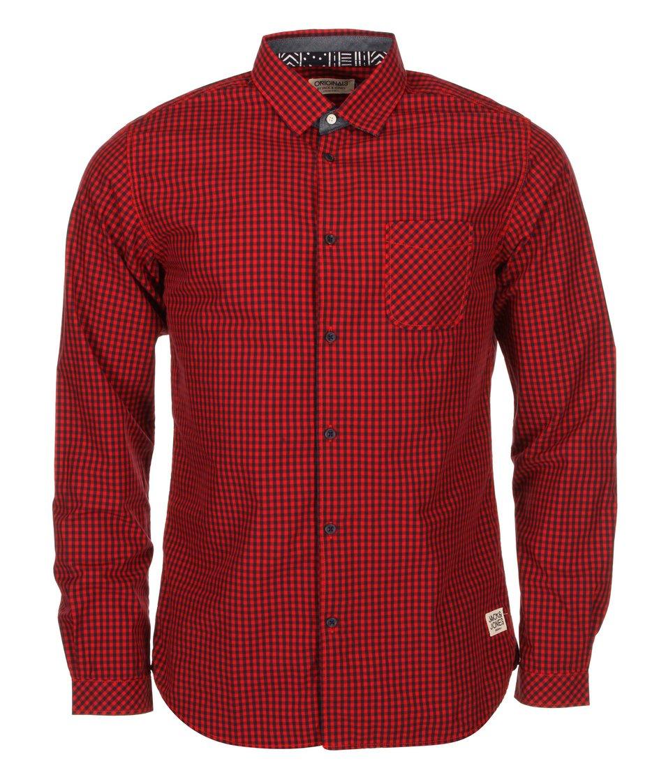 Modro-červená kostkovaná košile Jack & Jones Card
