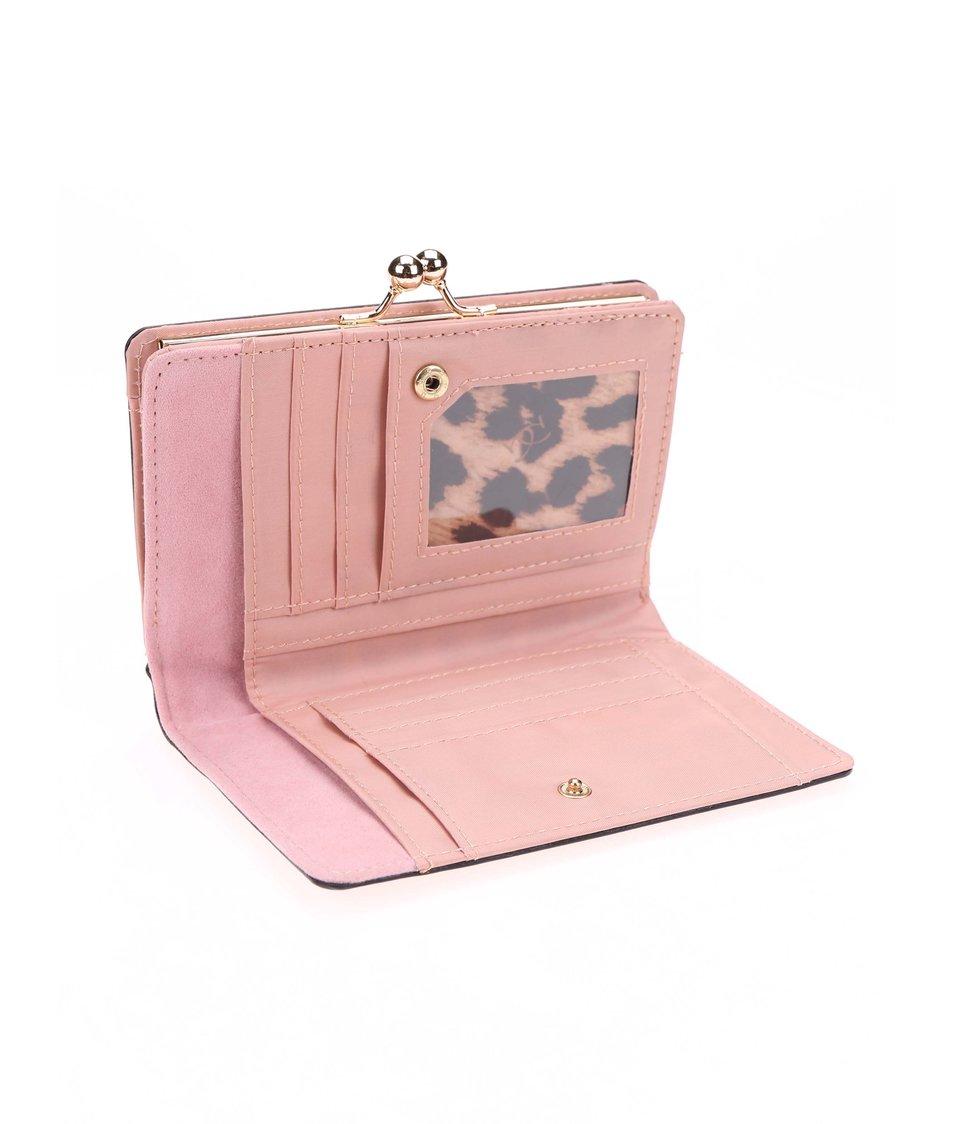 Světle růžová lesklá peněženka Gionni Olive