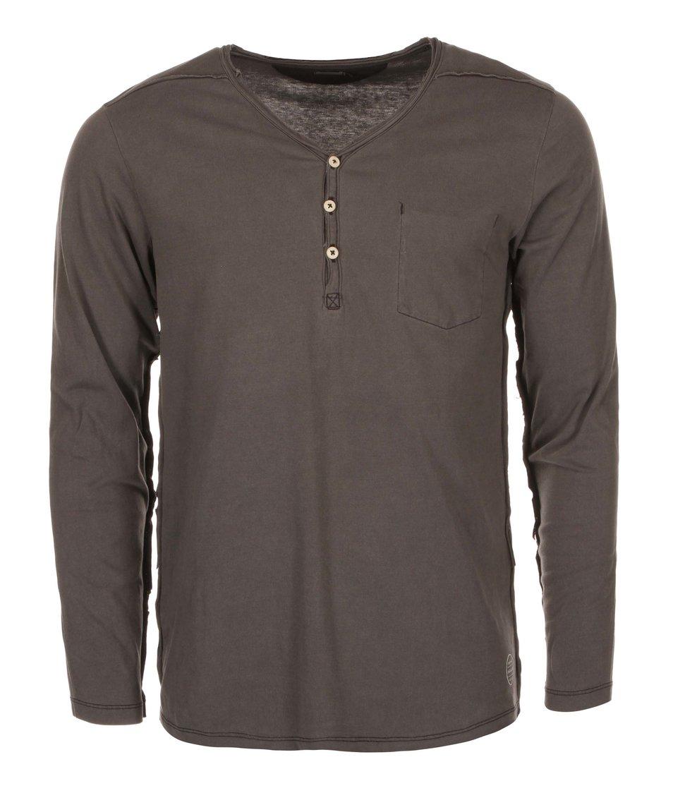 Tmavě šedé triko s dlouhými rukávy Jack & Jones Booth