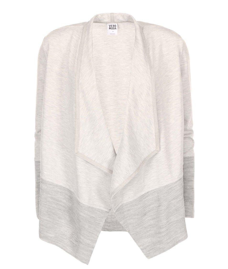Světle šedý cardigan Vero Moda Inci