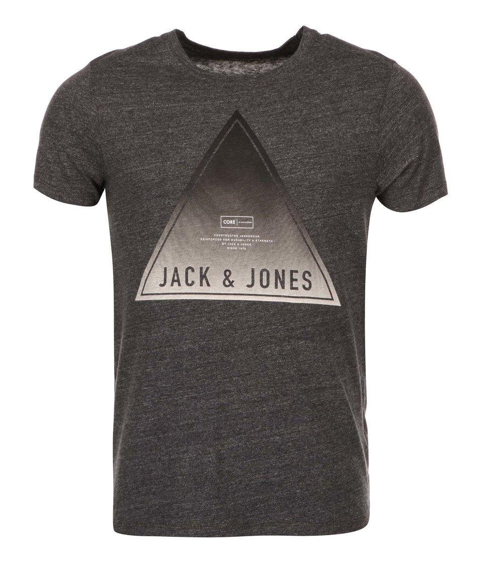 Tmavě šedé triko Jack & Jones Fade