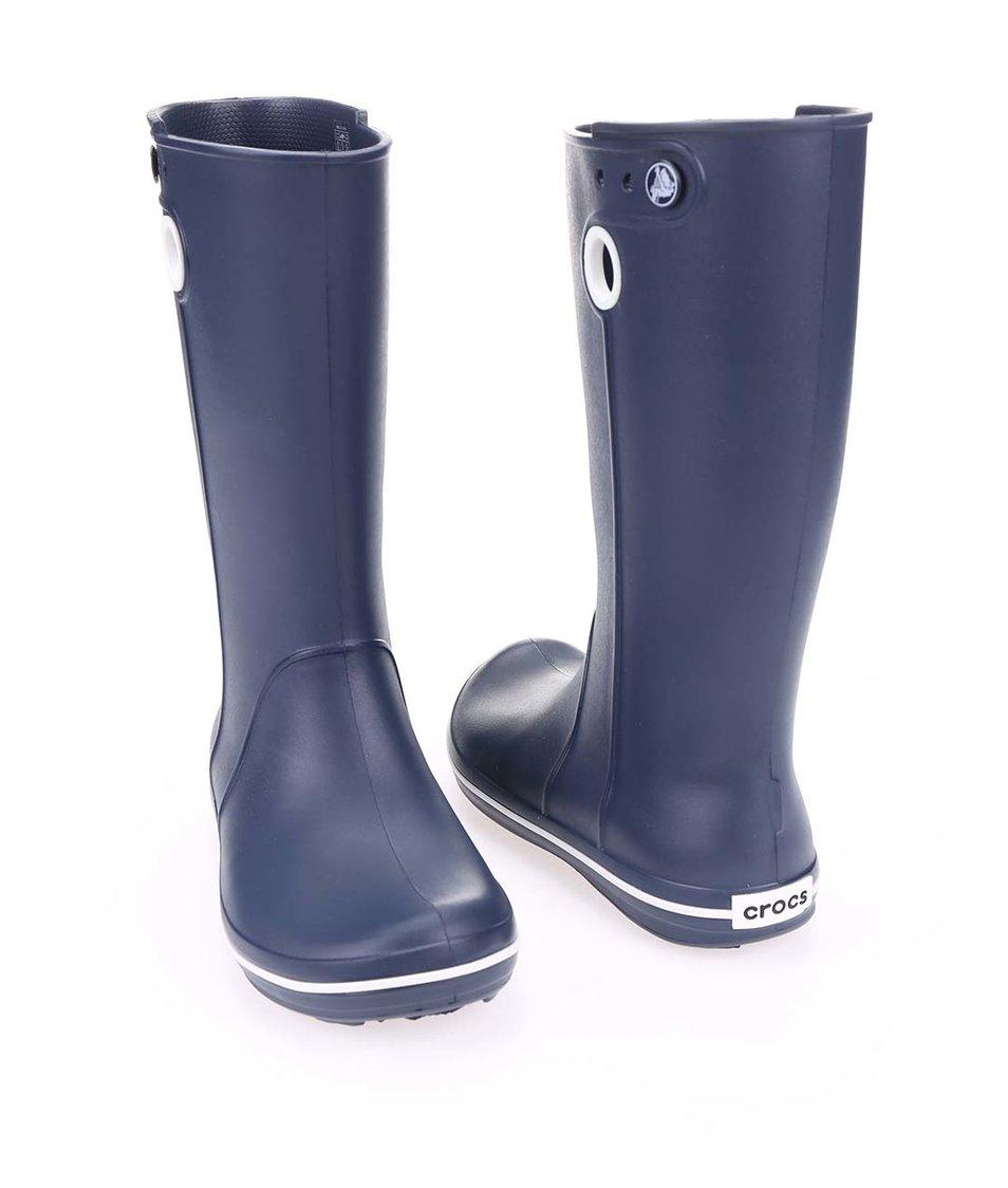 a96730165bb Tmavě modré dámské holínky Crocs Crocband Jaunt - Vánoční HIT ...