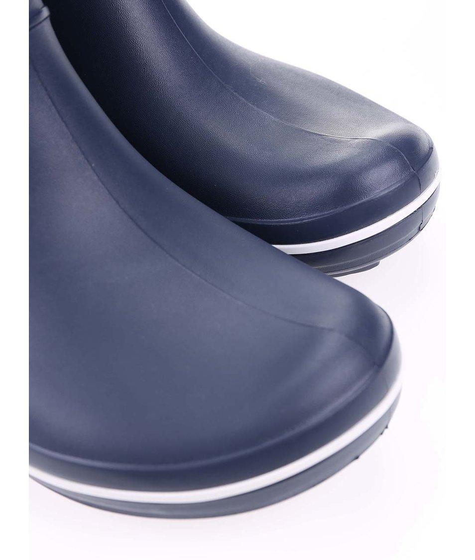 Tmavě modré dámské holínky Crocs Crocband Jaunt