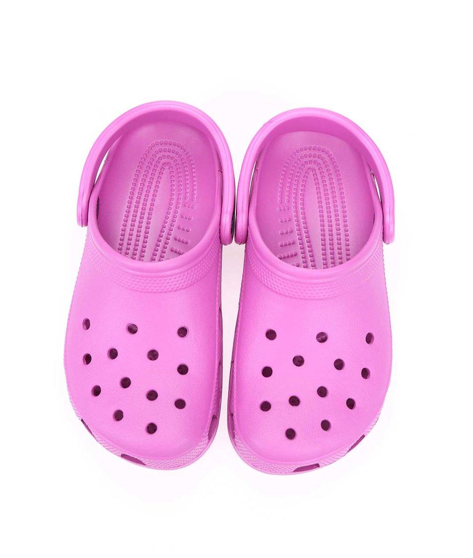 Růžové dámské nazouváky Crocs Classic