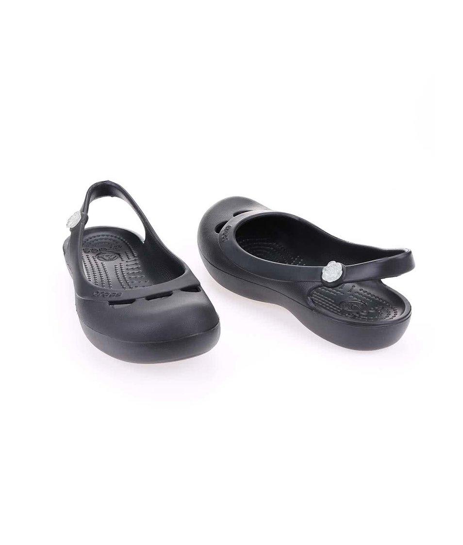 Černé sandálky Crocs Jayna