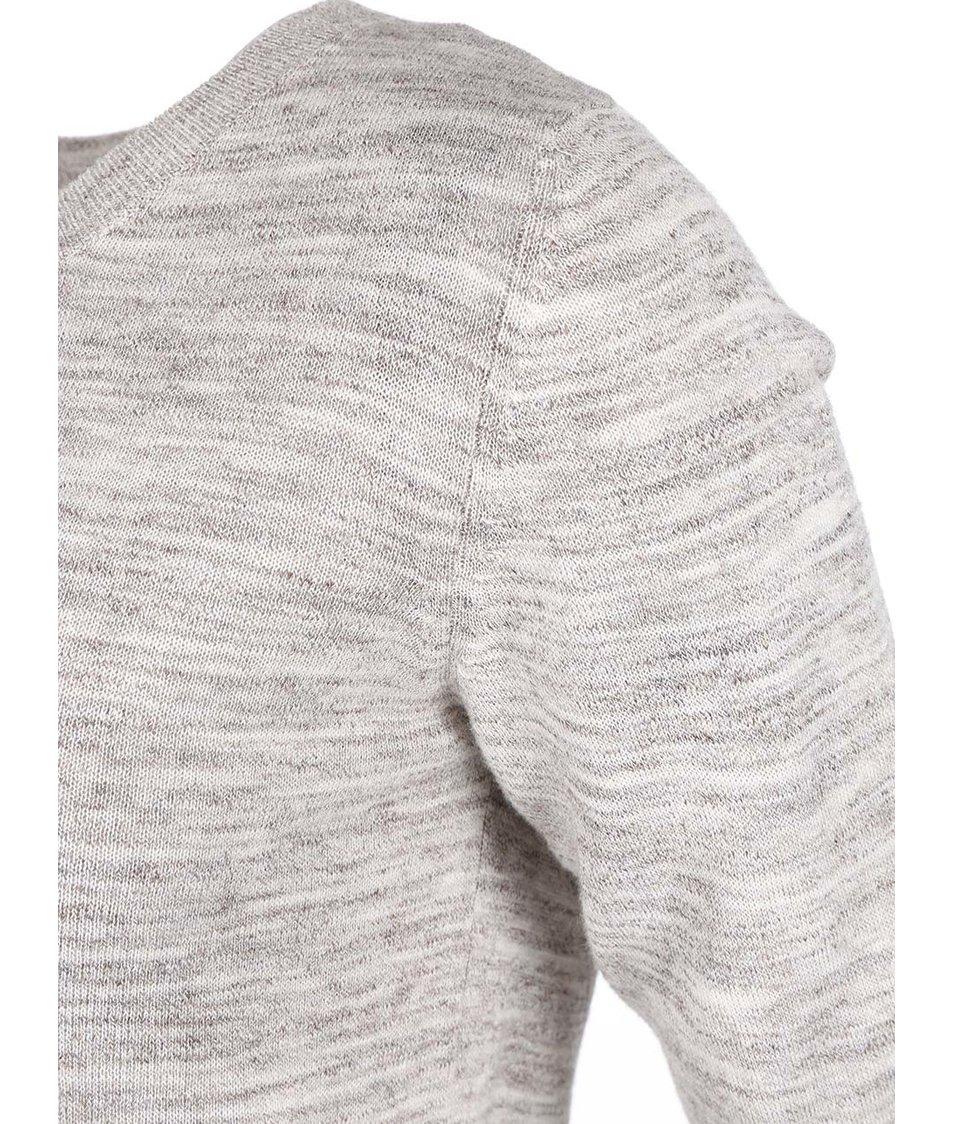Šedý žíháný svetr s průstřihem na zádech ONLY Mellow