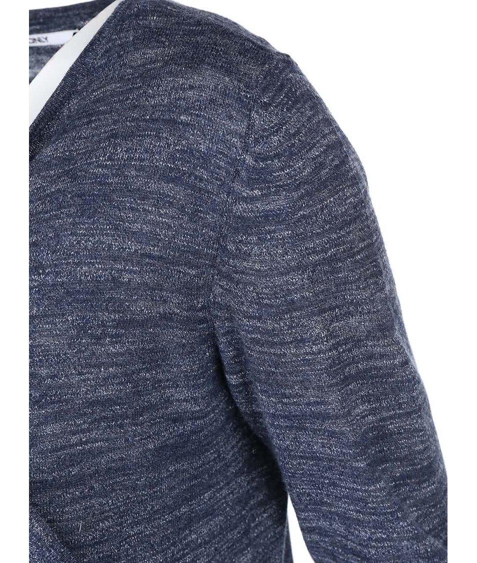 Tmavě modrý žíhaný cardigan ONLY Mellow