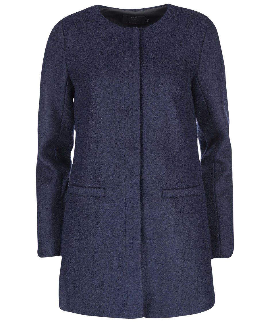 Tmavě modrý kabát ONLY New Pier