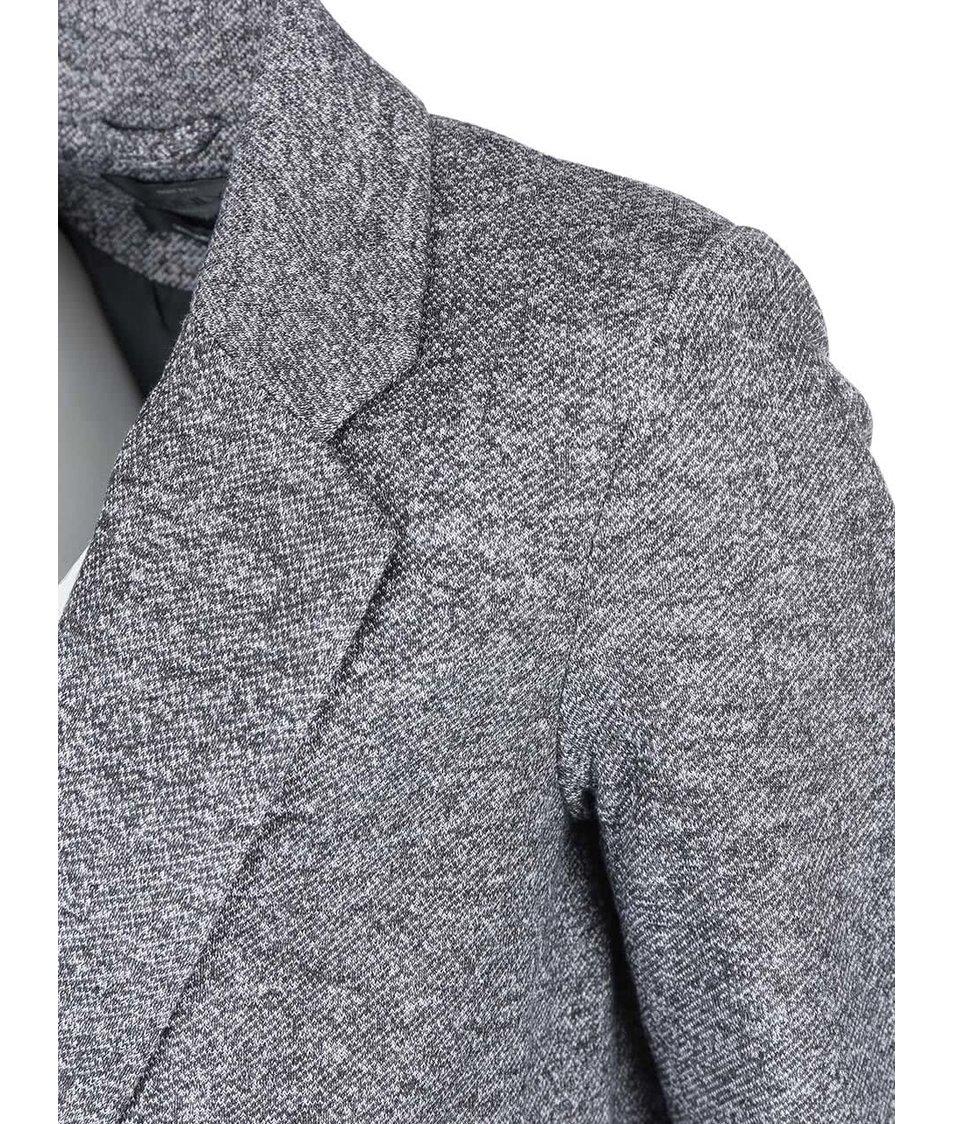 Šedý žíhaný kabát ONLY Hoff