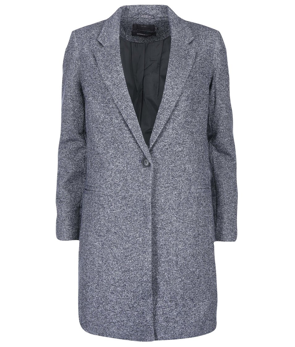 Modrý žíhaný kabát ONLY Hoff