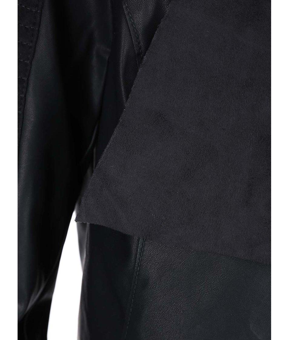 Černý koženkový blejzr ONLY Sound