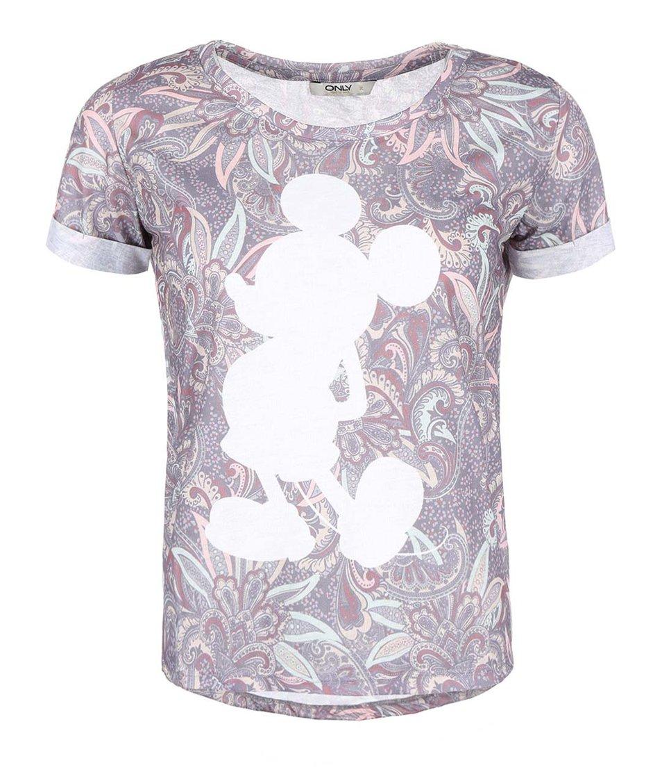 Barevné tričko s Mickey Mousem ONLY Mickey