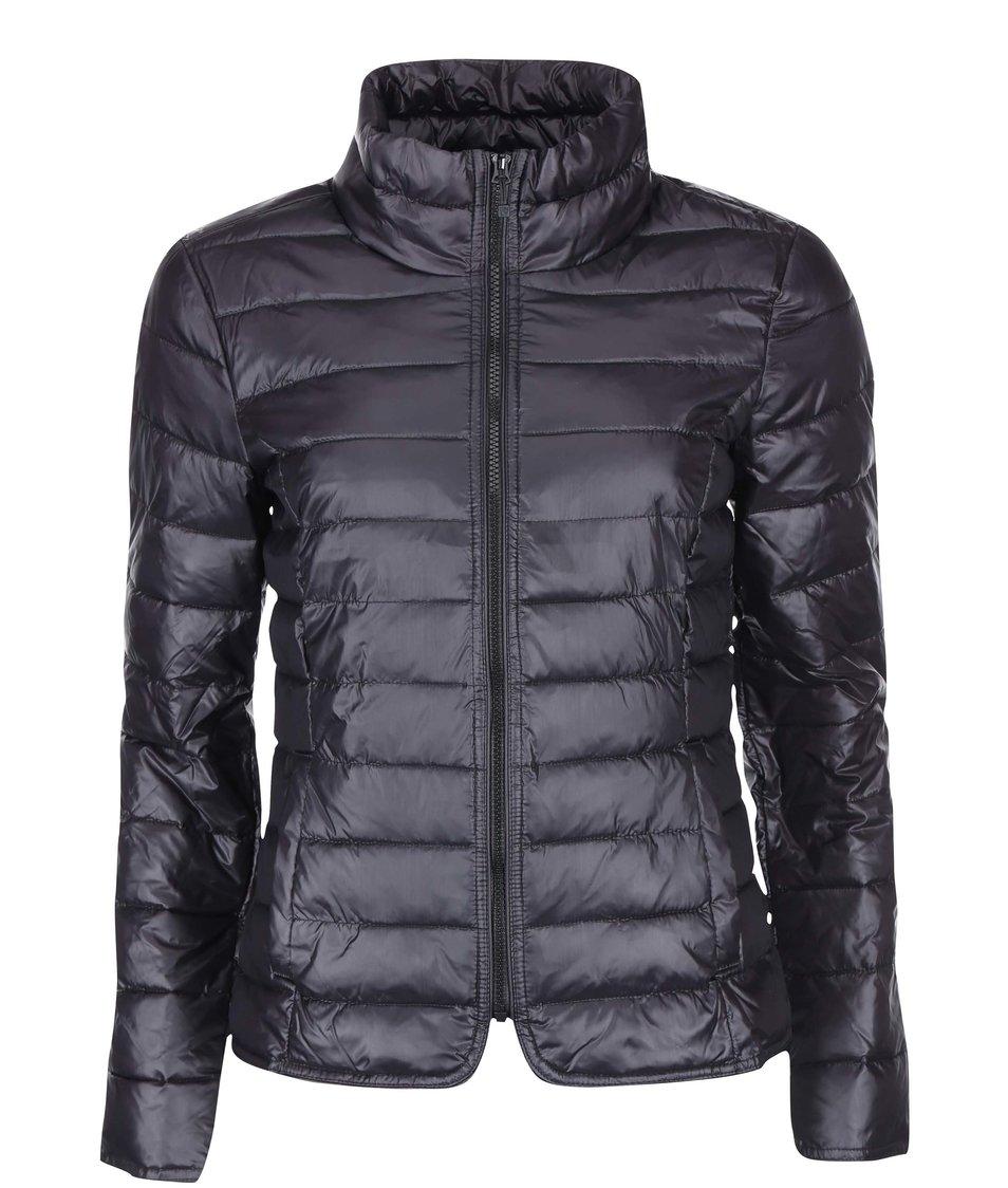 Černá lehká prošívaná bunda ONLY Tahoe Nylon
