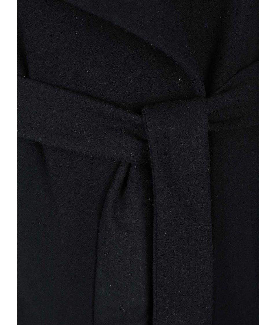 Černá kabátová vesta ONLY Drapy