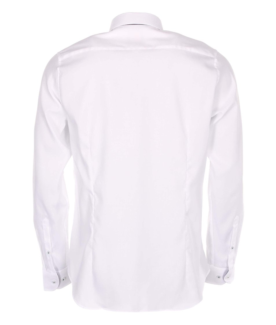 Bílá košile Seidensticker Kent Deatil City Super Slim Fit