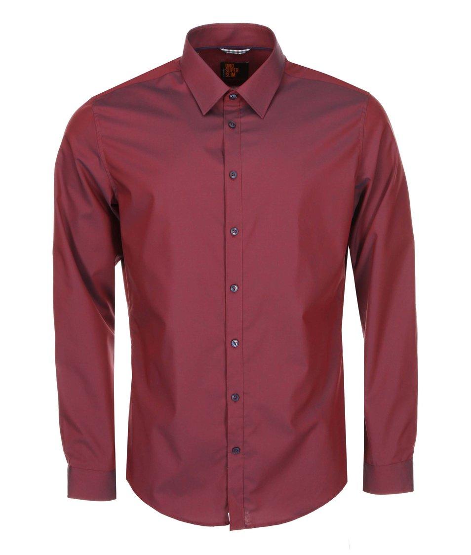 Vínová košile Seidensticker Kent Piping City Super Slim Fit