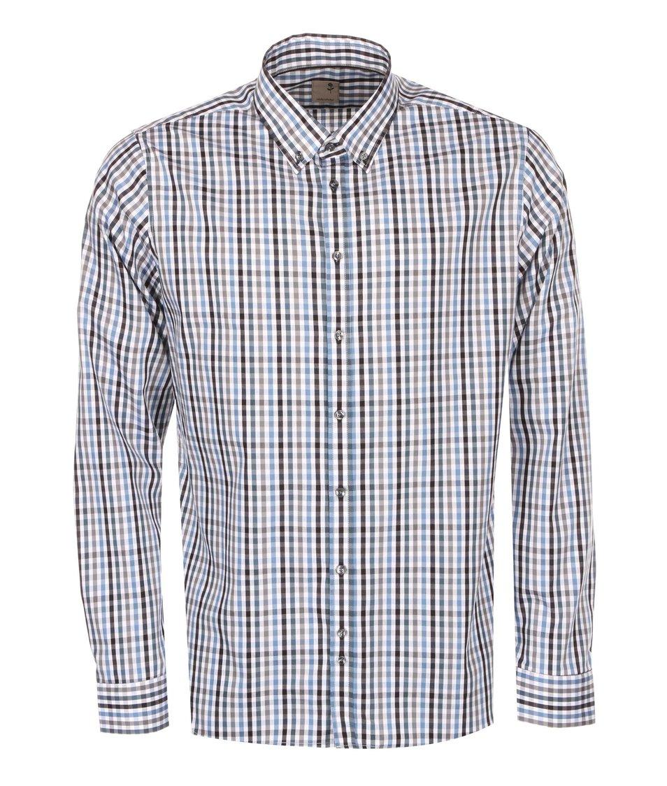 Bílo-modrá kostkovaná košile Seidensticker Remy Petit City Slim Fit
